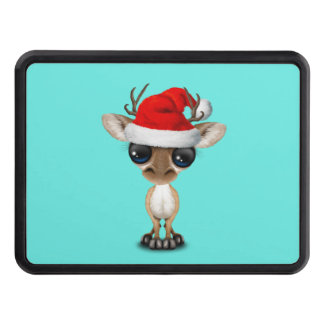 Baby Deer Wearing a Santa Hat Trailer Hitch Cover