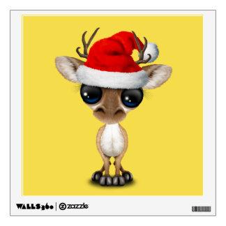 Baby Deer Wearing a Santa Hat Wall Decal