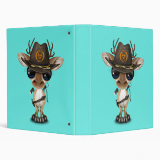 Baby Deer Zombie Hunter 3 Ring Binder