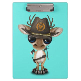 Baby Deer Zombie Hunter Clipboard