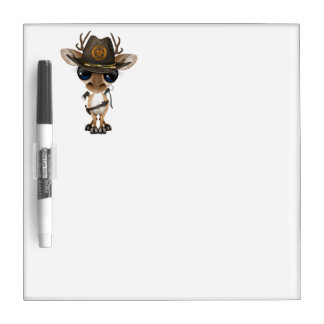 Baby Deer Zombie Hunter Dry Erase Board