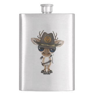 Baby Deer Zombie Hunter Hip Flask