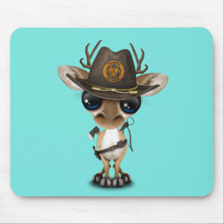 Baby Deer Zombie Hunter Mouse Pad