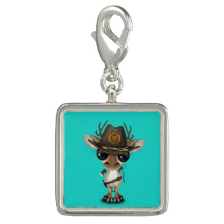 Baby Deer Zombie Hunter Photo Charm