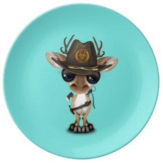 Baby Deer Zombie Hunter Plate