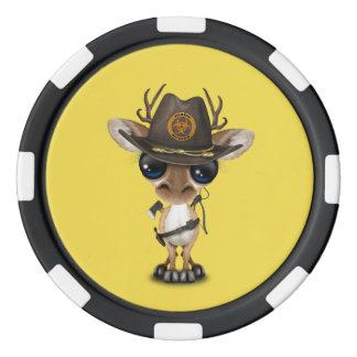 Baby Deer Zombie Hunter Poker Chips