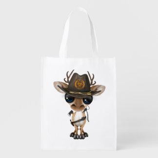 Baby Deer Zombie Hunter Reusable Grocery Bag