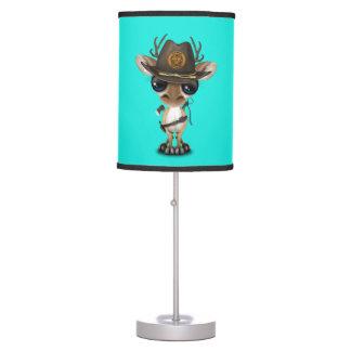 Baby Deer Zombie Hunter Table Lamp