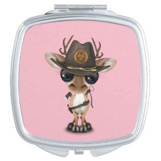 Baby Deer Zombie Hunter Travel Mirrors