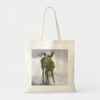 Baby deer's curiosity tote bag
