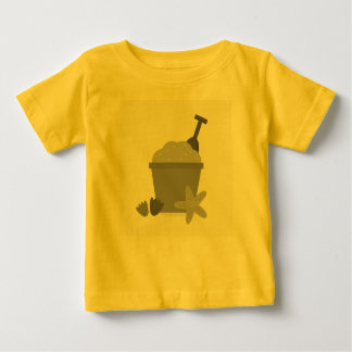 Baby designers t-shirt with Summer illustration
