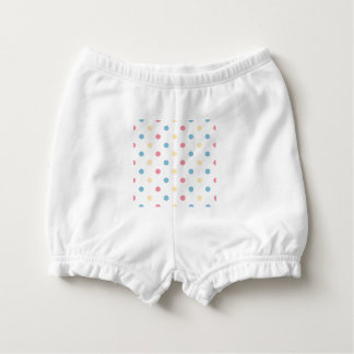Baby diaper bloomers with romance Dots  /   Spring Diaper Cover