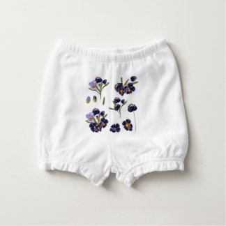 Baby diapers with handdrawn flowers diaper cover