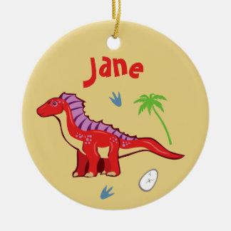 Baby Dinosaur Amargasaurus Ceramic Ornament