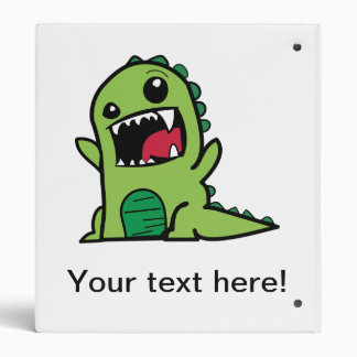 Baby dinosaur cartoon 3 ring binders