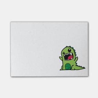 Baby dinosaur cartoon post-it notes