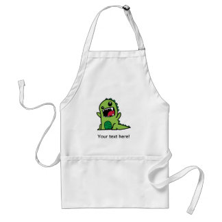 Baby dinosaur cartoon standard apron