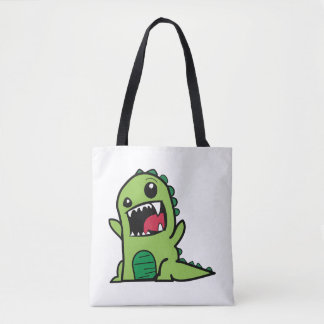 Baby dinosaur cartoon tote bag