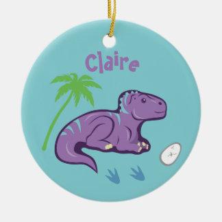 Baby Dinosaur Iguanodon Ceramic Ornament