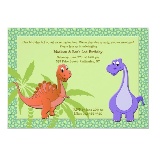Baby Dinosaurs Invitation