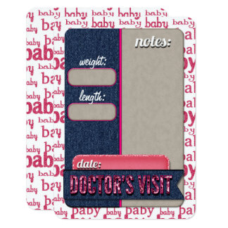 Baby Doctor Visit JOURNAL CARD