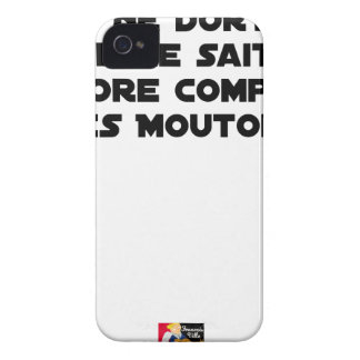 BABY DOES NOT SLEEP BECAUSE IT CANNOT COUNT YET iPhone 4 CASES