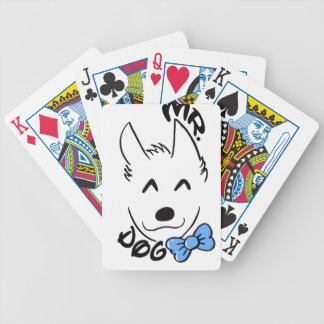 Baby dog bicycle playing cards
