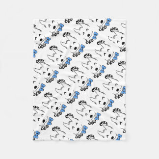 Baby dog fleece blanket