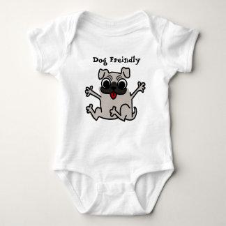 Baby dog friendly baby bodysuit