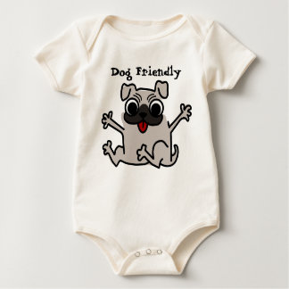 Baby dog friendly baby bodysuit