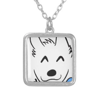 Baby dog silver plated necklace