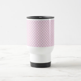 Baby Doll Pink Polka Dot Retro Travel Mug