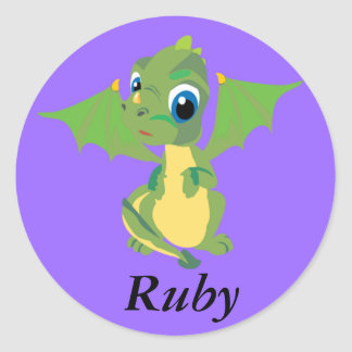 Baby Dragon Classic Round Sticker