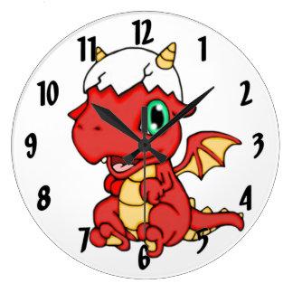 Baby Dragon Large Clock