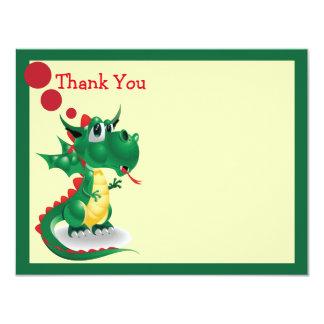 "Baby Dragon Thank You Card 4.25"" X 5.5"" Invitation Card"