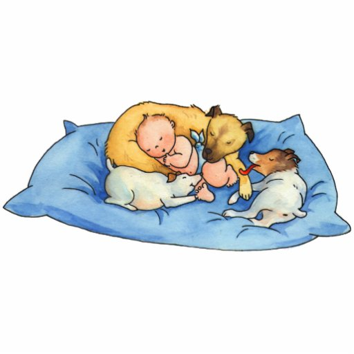 Baby Dreams on Dog Bed -  Acrylic Cutout Magnet Acrylic Cut Out