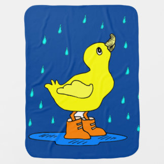 Baby Duck blankie Receiving blue Blanket Receiving Blankets