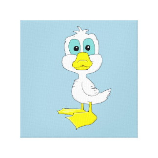 Baby duck design stationery canvas prints