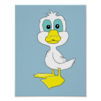 Baby duck design stationery poster