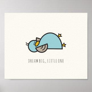 Baby Duck Dream Big Little One Nursery Wall Art