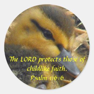 Baby Duck - Innocence Classic Round Sticker