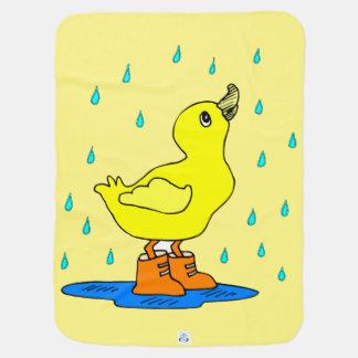 Baby duck rain blankie Receiving Yelllow Blanket Receiving Blankets
