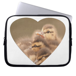 Baby Ducks Duckling Bird Wildlife Animals Mallard Laptop Computer Sleeves