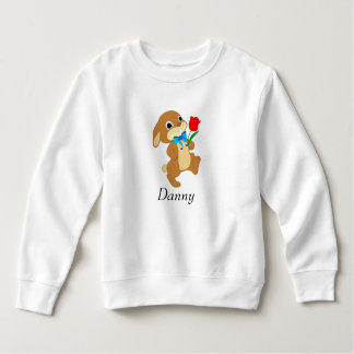 Baby Easter Bunny with Red Rose Sweatshirt