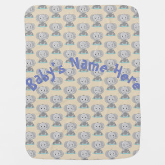 Baby Elephant Blanket - Customized Baby Blanket