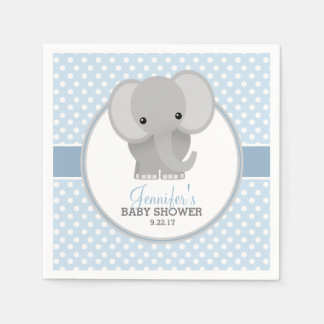 Baby Elephant (blue) Baby Shower Disposable Napkin