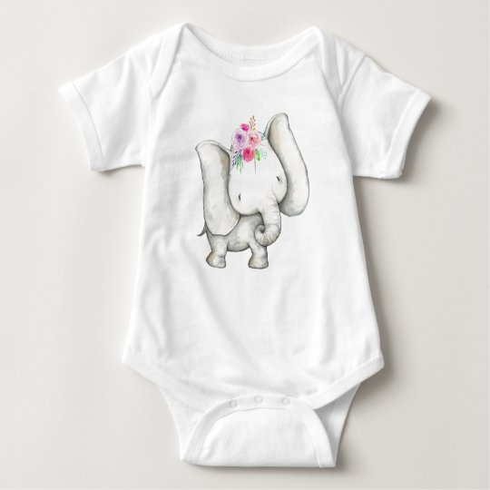 Baby Elephant Bodyshirt T-Shirt Girl
