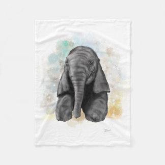Baby Elephant Fleece Blanket