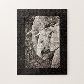 Baby elephant jigsaw puzzle