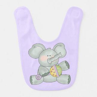 Baby Elephant Lavender Unisex Baby Bib